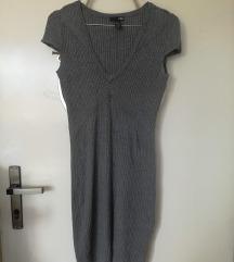 Siva H&M haljina (rebrasti pamuk)