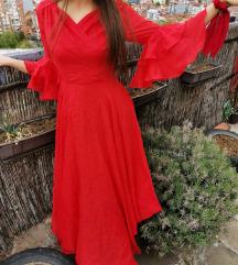 Crvena svečana haljinica (S)