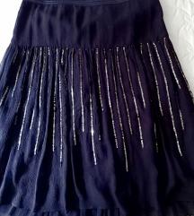 Italijanska svilena suknja M novo