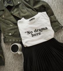 rezz Zara bela majica sa natpisom, vel. S