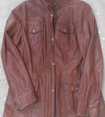 Braon kozna jakna/braon kozna haljina
