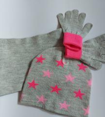 Kapa, sal i rukavice novo 4 5 6 7 god