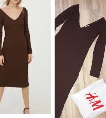 H&M braon uska haljina