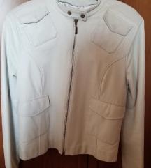 Bela kožna jakna