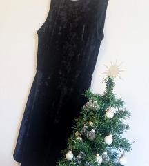 Crushed velvet haljina