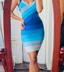Herve Leger model plava haljina