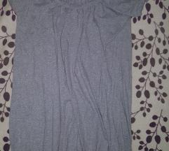 Vrecasta siva pamucna haljina