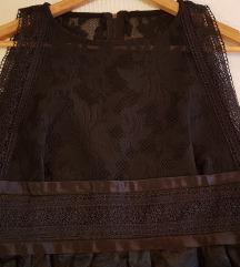 Novogodisnja crna cipka haljina