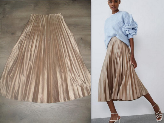 rezzz ZARA, plisirana metalik suknja!