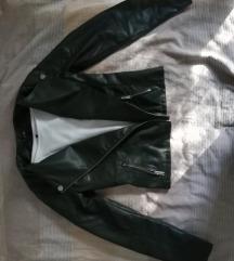 Maslinasta kožna jaknica
