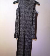 Duga haljina sa golim ramenima i rukavima
