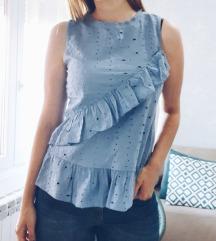Plava bluza sa karnerima