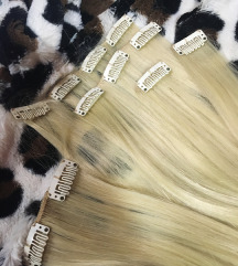 Poluprirodna kosa na klipse