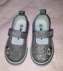 Srebrne cipele baletanke 21-22