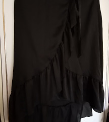 P...S... fashion crna suknja na preklop 38 broj