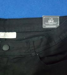 Crne nove pantalone s etiketom 42