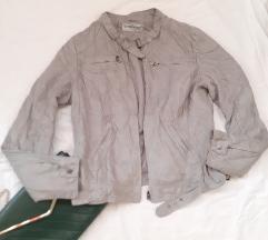 C&A siva jakna rokerica L