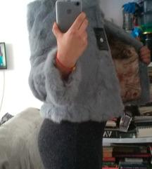 Nova siva kratka bunda krzno zec