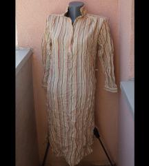 Košulja haljina sa uzdužnim prugama osamdesete