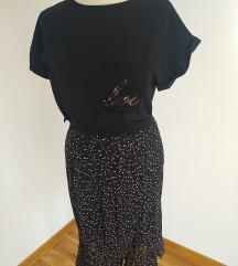 Nova suknja crna na bele tufnice