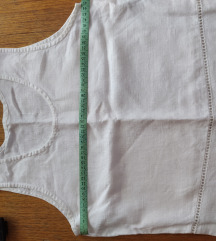 Bela lanena vintage bluza