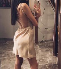 Saten haljina sa golim ledjima