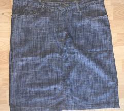 Siva teksas suknja duboka