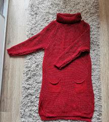 Crvena pletena haljina