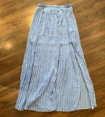Zara dugacka plava suknja