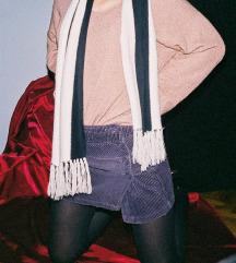 snizeno - ljubičasta mini suknja - somot