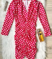 Crvena haljina na tufnice NOVA