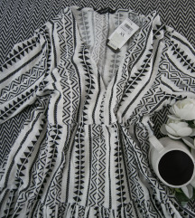 Rezz Letnja crno- bela aztec haljina, vel. XS