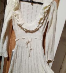 Bela džemper haljina vel. M-L