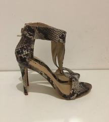 JustFab snake sandale! Novo! 23,5cm