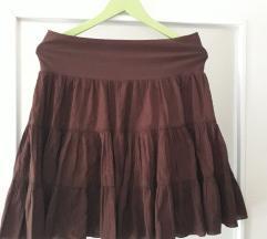 Braon pamucna suknja