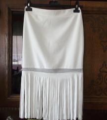 Nova bela duboka elegantna suknja sa resama