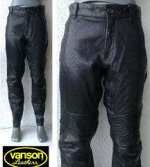 moto kožne pantalone crne VANSON