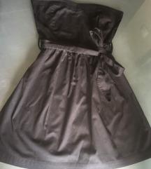 TRN crna top haljina sa pojasom SADA 400!