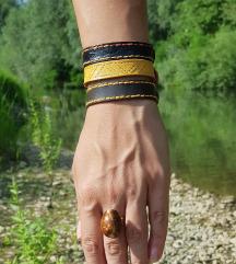 Kožna narukvica Combo (Prirodna koža)