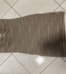 Krem top haljina