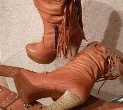Kvatiletne italijanske kožne čizme -SADA 3500din!