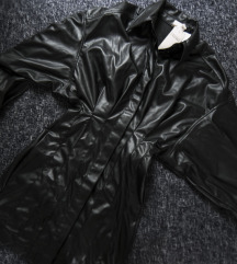 Vegan HM faux leather haljina, vel. S