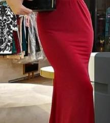 Duga bordo haljina