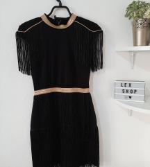 Crna haljinica sa resama