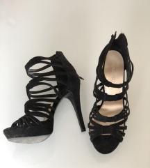 Nine West crne štikle sandale