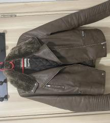 Bershka kozna deblja jakna