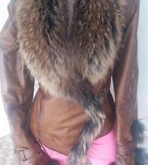 Kozna jakna sa priorodnim krznom