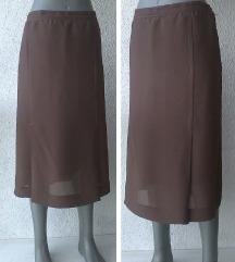 suknja braon broj 42