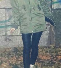 H&M maslinasta zimska jakna