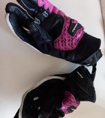 Ixon moto rukavice zenske crno-roze